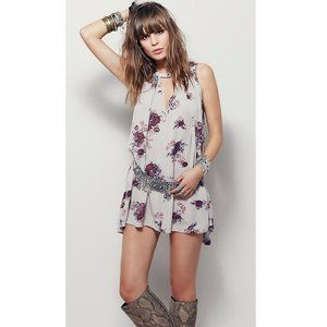 Free People Faded Floral Sleeveless Tunic